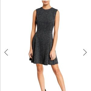 Theory sleeveless fit and flare marled dress